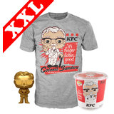 Funko Pop! Tees #05 KFC Colonel Sanders POP! Vinyl & T-Shirt Box Set - Exclusive Funko Shop Import - New, Mint [Size: XXL]