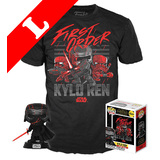Funko Pop! Tees #308 Star Wars Kylo Ren POP! Vinyl & T-Shirt Box Set - Exclusive Target Import - New, Mint [Size: Large]