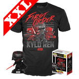 Funko Pop! Tees #308 Star Wars Kylo Ren POP! Vinyl & T-Shirt Box Set - Exclusive Target Import - New, Mint [Size: XXL]