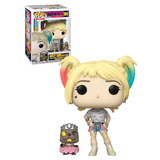 Funko POP! Heroes Birds Of Prey #308 Harley Quinn (With Beaver) - New, Mint Condition