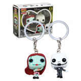 Funko POCKET POP! Keychain 2 Pack Disney - Jack Skellington And Sally - New, Mint Condition