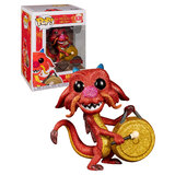 Funko POP! Disney Mulan #630 Mushu With Gong (Diamond Collection Glitter) - New, Mint Condition