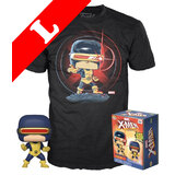 Funko Pop! Tees #502 Marvel POP! Vinyl & T-Shirt Box Set - X-Men Cyclops (Glow-In-The-Dark) Import - New, Mint [Size: Large]