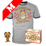 Funko Pop! Tees #20 Comics POP! Vinyl & T-Shirt Box Set - Garfield (Flocked) Import - New, Mint [Size: Medium]