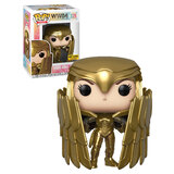 Funko Pop! Heroes WW84 #329 Wonder Woman (Golden Armour Shield) - Limited Hot Topic Exclusive - New, Mint Condition