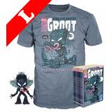 Funko Pop! Tees #511 Marvel Venom POP! Vinyl & T-Shirt Box Set - Venomized Groot (Glow-In-The-Dark) Import - New, Mint [Size: Large]