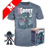 Funko Pop! Tees #511 Marvel Venom POP! Vinyl & T-Shirt Box Set - Venomized Groot (Glow-In-The-Dark) Import - New, Mint [Size: Medium]