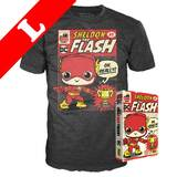 Funko Pop! Tees DC Big Bang Theory T-Shirt - Sheldon As Flash NYCC 2019 Exclusive [Size: Large]