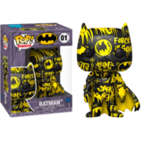 Funko POP! Art Series #01 Batman (Black/Yellow) - New, Mint Condition