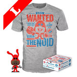 Funko Pop! Tees #17 Ad Icons POP! Vinyl & T-Shirt Box Set - The Noid (Glow-In-The-Dark) Import - New, Mint [Size: XL]