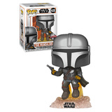 Funko POP! Star Wars The Mandalorian #408 The Mandalorian With Jetpack - New, Mint Condition