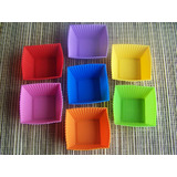 7 x Mini Square Shaped Muffin Moulds