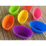 7 x Mini Oval Shaped Muffin Moulds
