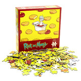 "Rick And Morty ""Szechuan Hot Tub Sauce"" 550 Piece Jigsaw Puzzle - New Mint Condition"