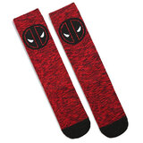 Bioworld Marvel Deadpool Embroidered Crew Socks - Shoe Size 8-12 - New