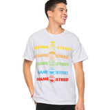 Sesame Street Gradient Faces T-Shirt - Hot Topic Exclusive - New With Tag