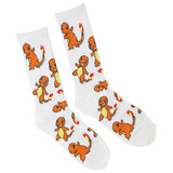 Pokemon Charmander Tossed Ribbed Crew Socks - Mens Shoe Size 9-11 - New