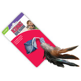 Kong Premium Cat Toy - Denim Ball with Feathers