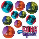 Kong Squeezz Action Ball - Bounce & Squeak Toy For Dogs - 3 Sizes - Packs Of 2 Or 3