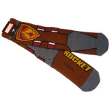 Rocket Raccoon Marvel Guardians Collector's Edition Crew Socks Mens Shoe Size 6-12 NEW