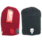 Marvel Daredevil And Punisher Logos Reversible Beanie Hat - New