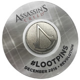 Assassin's Creed Enamel Pin/Brooch By Loot Crate - Licensed - New, Mint Condition