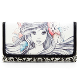Disney The Little Mermaid Ariel Sketch Wallet by Loungefly - New, Mint Condition