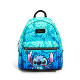 Disney Lilo & Stitch Blue Tropical Leaves Mini Backpack by Loungefly - New, With Tags