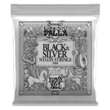Ernie Ball 'Ernesto Palla' Classical Black & Silver Nylon Strings 2406 - Plain Ends