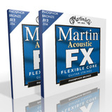 Twin Pack Martin Acoustic Strings FX Medium Phosphor MFX750
