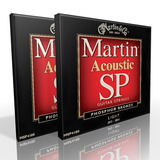 Twin Pack - Martin Acoustic Strings Light Phosphor MSP4100