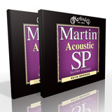 Twin Pack - Martin Acoustic Strings Custom Light 80/20 Bronze MSP3050