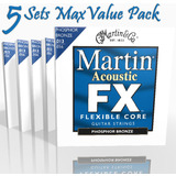 Five Set Max Value Pack Martin Acoustic Strings FX Medium Phosphor MFX750