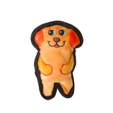 Outward Hound Invincibles Mini Plush Stuffing-Less Dog Toy With Squeaker - Pup