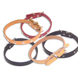 Paw Culture Dog Collar Classic Leather Optional Studs