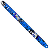 Perri's Guitar Strap 100% Leather - Tattoo Johnny Series - Blue Nurses