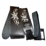 Perri's Guitar Strap 100% Leather - High Resolution Design Butterflies - New With Tags