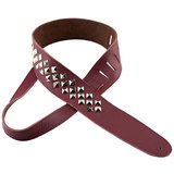 Perri's Guitar Strap 100% Leather - Premium Studded Red - New With Tags