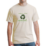 "Planet Dog Green T - ""Reduce Reuse Rewoof"" Men's T-Shirt - New With Tags"