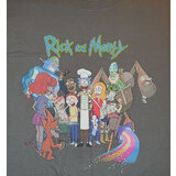Rick And Morty Cast Shirt Grey - Mens T-Shirt - New With Printed Tag