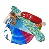 Dog Puppy Variety Toy Pack Tough Throw Chew Tug Rope Toys