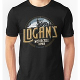 "TeeFury X-Men Wolverine  Fandom T Shirt ""Logan's Motorcycle Repair"" Unisex Size L NEW"