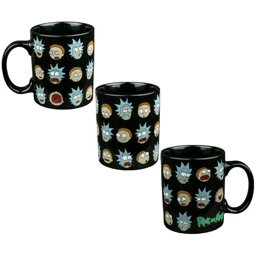 Rick And Morty Many Faces Of Coffee Tea Mug - New In Package